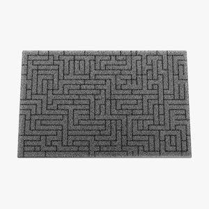 3D doormat pbr fibers