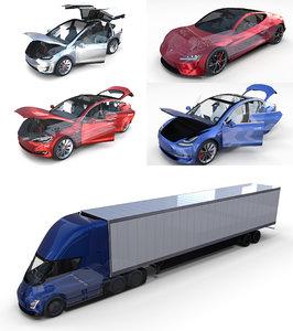 tesla roadster s x 3D model