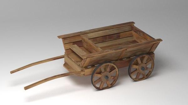 cart car old 3D model