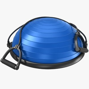 realistic bosu ball strings 3D model