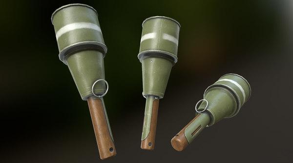 rpg-43 soviet anti 3D