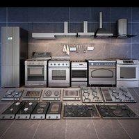 3D kitchen stoves cooker model