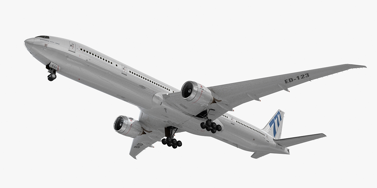 3d max 777-300 generic white