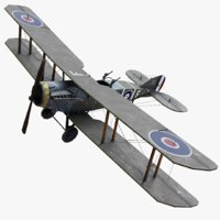 3D bristol f2b ww1 airplane model