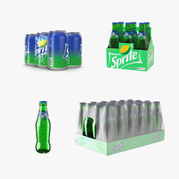 3D model sprite bottles packages pack