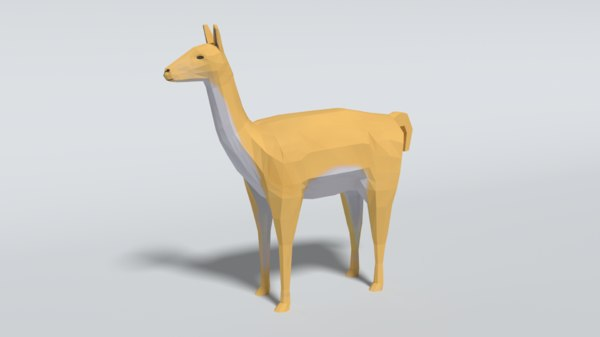 3D llama guanaco