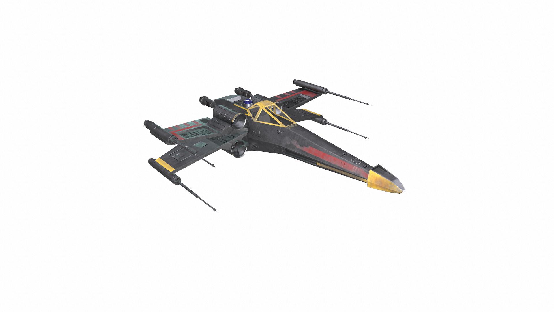 3D x-wing star wars