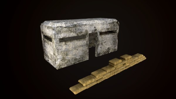 bunker architecture structure 3D model