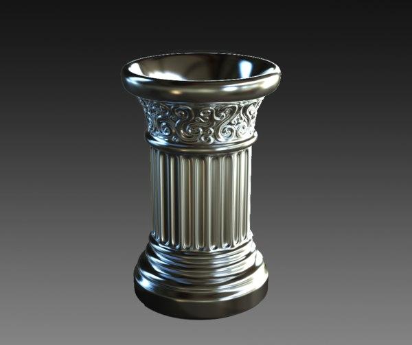 roman column style mug 3D