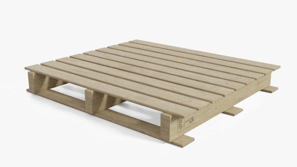 pallet wooden wood model