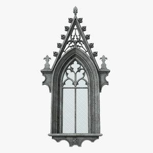3D gothic window 02