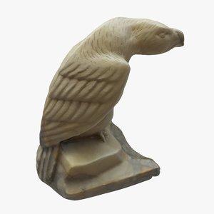 granite statue eagle pbr 3D model