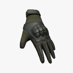 3D model gloves sci-fi