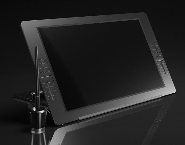 screen drawing monitor 3D model