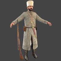 cossack soldier 3D model