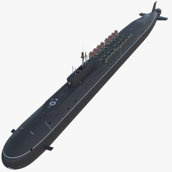 3d model k-551 vladimir monomakh submarine