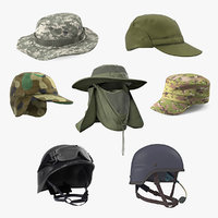 3D military hats 2