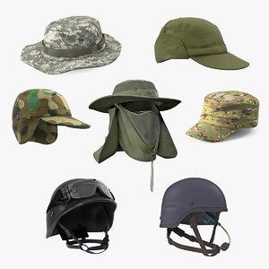 3D military hats 2