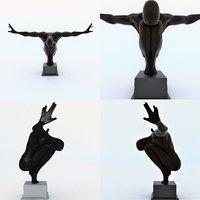 3D decorative statue man figurine