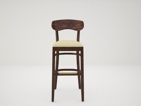 3D model bar stool gar