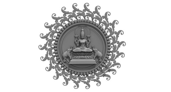 god lakshmi 3D