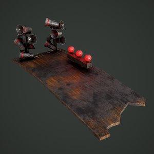 3D megafons board model