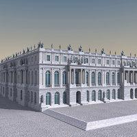 3D garden versailles palace