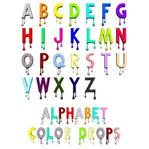 alphabet b c 3D model