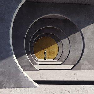 3D tunnel interior model
