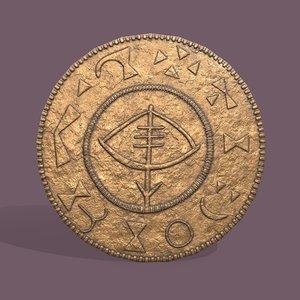 viking coin 3D model