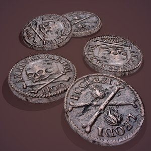 3D model medieval coin