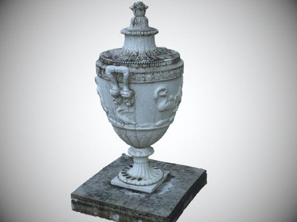 scanned marble vase 3D