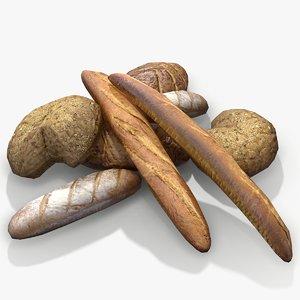 3D ready bread model