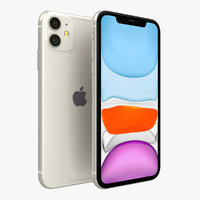 apple iphone 11 white 3D model