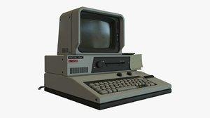 retro sci fi computer 3D model