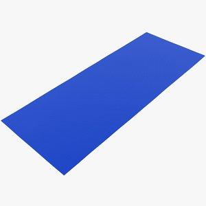realistic flat yoga mat 3D model