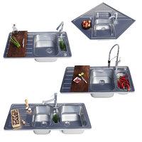 3D model blanco kitchen sinks