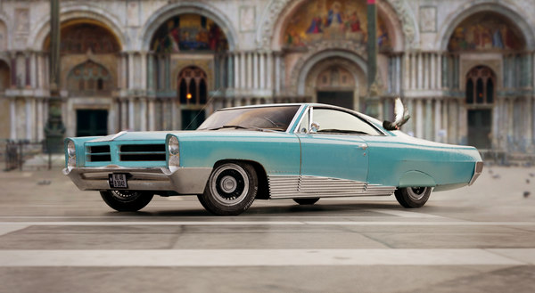 pontiac bonneville 1966 3D model