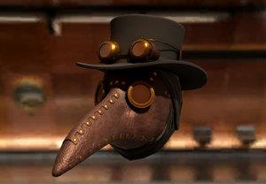 3D model steam plague doctor mask