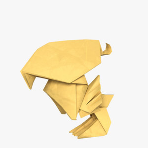origami chick model