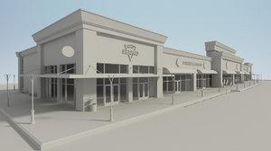 3D retail store build