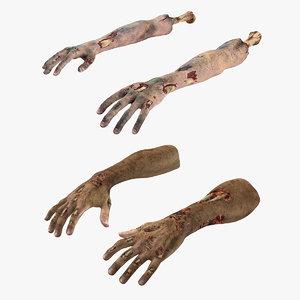 zombie hands 3D