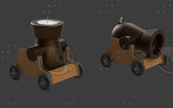 3D cannon decoration toy