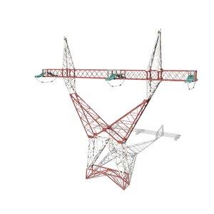 3D model electricity pole