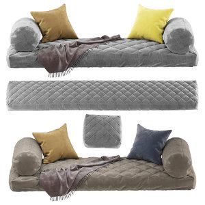 3D seat pillow model