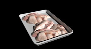 3D chicken wings