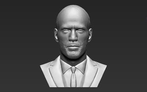3D jason statham bust ready model