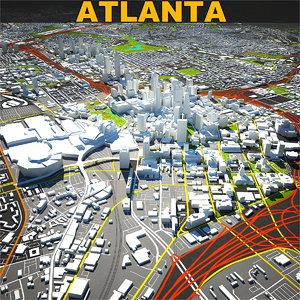 3D atlanta skyline complete