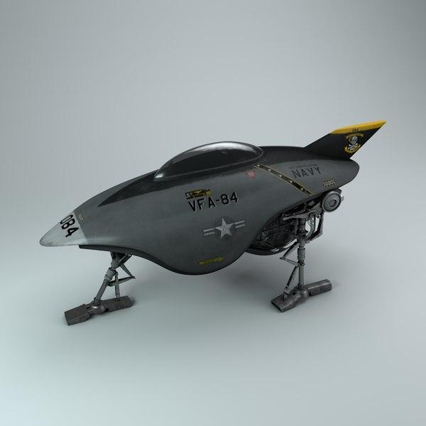 3D scifi fighter navy