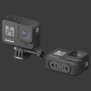 camera gopro hero 8 3D model